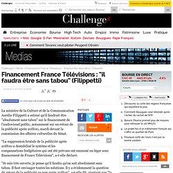 """Financement France Télévisions : """"il faudra être sans tabou"""" (Filippetti)"""