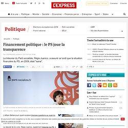 Financement politique : le PS joue la transparence