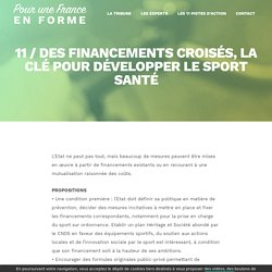 11 / Des financements croisés, la clé pour développer le sport santé