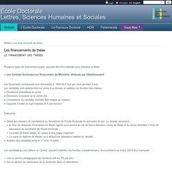 Ecole Doctorale<br/> Lettres, Sciences Humaines et Sociales