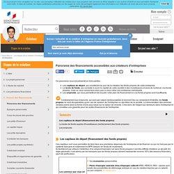 Panorama des financements accessibles aux créateurs d'entreprises