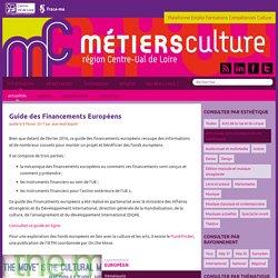 Guide des Financements Européens - Métiers Culture
