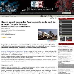 Daech aurait perçu des financements de la part du groupe français Lafarge