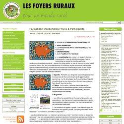 Formation Financements Privés & Participatifs - Les Foyers Ruraux en région PACA