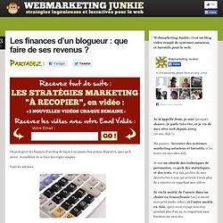 Les finances d'un blogueur : que faire de ses revenus ?