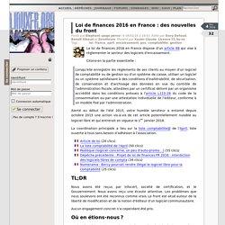 Loi de finances 2016 en France: des nouvelles du front