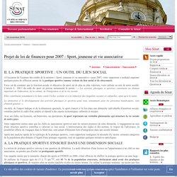 Projet de loi de finances pour 2007 : Sport, jeunesse et vie associative
