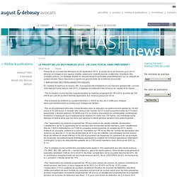 Flash droit fiscal