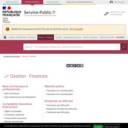 Gestion - Finances - professionnels
