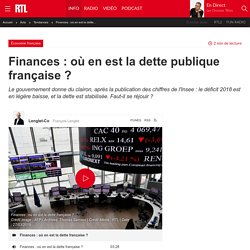 Finances : où en est la dette publique française ?