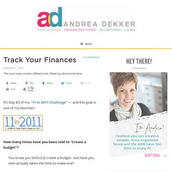 Track Your Finances