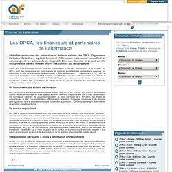 Les OPCA, les financeurs et partenaires de l'alternance