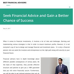 Seek Financial Advice and Gain a Better Chance of Success