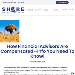 How Financial Advisors Are Compensated