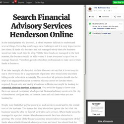 Search Financial Advisory Services Henderson Online