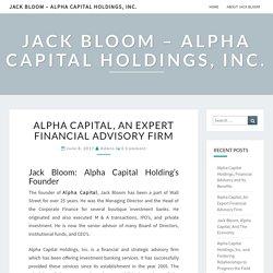 Alpha Capital, An Expert Financial Advisory Firm