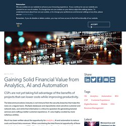 Gaining Solid Financial Value from Analytics, AI and Automation