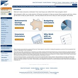 Planning Tools Financial Calculators