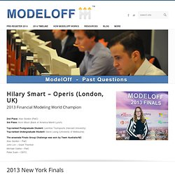The 2012 Financial Modeling World Championships