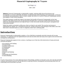 Financial Cryptography in 7 Layers