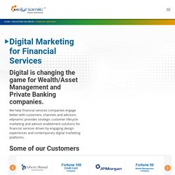 B2B Financial Services Digital Marketing, Website Development - edynamic