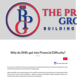 Some Causes of SMEs get into Financial Difficulty : Premier Pioneer Group,UK