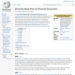 Deutsche Bank Prize in Financial Economics