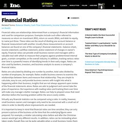 Financial Ratios - Encyclopedia - Business Terms