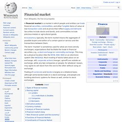 Financial market (Wikipedia)