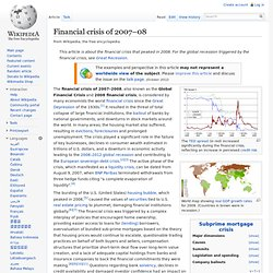 2007–2012 global financial crisis