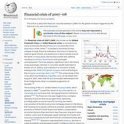 2007–2012 global financial crisis