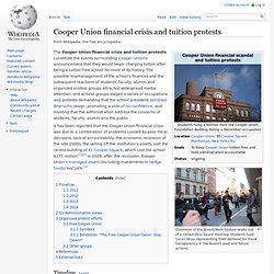 Cooper Union Tuition Scandal and Protests