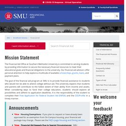 Financial Aid - SMU Enrollment Services