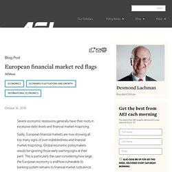 European financial market red flags