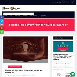 Financial tips every founder must be aware of