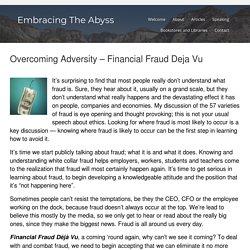 Financial Fraud Deja Vu