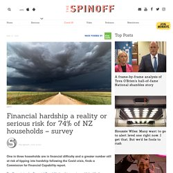 Financial hardship a reality or serious risk for 74% of NZ households – survey
