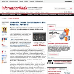 LinkedFA Offers Social Network For Financial Advisors - The BrainYard