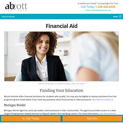 How Abcott Institute provides financial assistance?