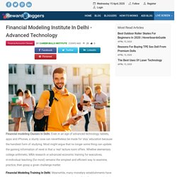 Financial Modeling Institute In Delhi - Advanced Technology