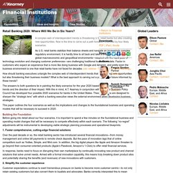 Retail Banking 2020: Where Will We Be in Six Years? - Financial Institutions Featured Article