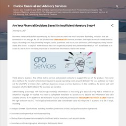 Are Your Financial Decisions Based On Insufficient Monetary Study?