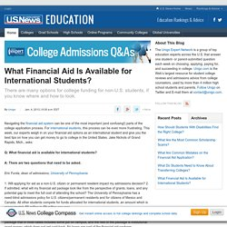 What Financial Aid Is Available for International Students?