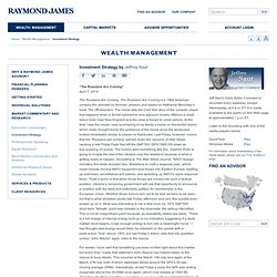 Raymond James Financial | Investment Strategy by Jeffrey Saut