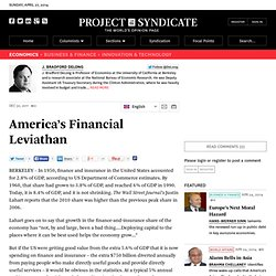 America's Financial Leviathan - J. Bradford DeLong