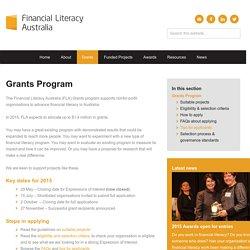 Financial Literacy Australia Grants – Financial Literacy