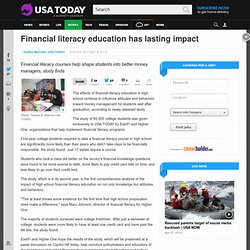 Financial literacy education has lasting impact