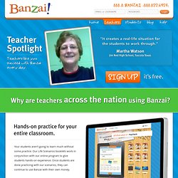 Financial literacy online software: Banzai