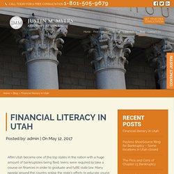Financial literacy in Utah
