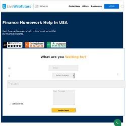 Online Finance Homework Help USA